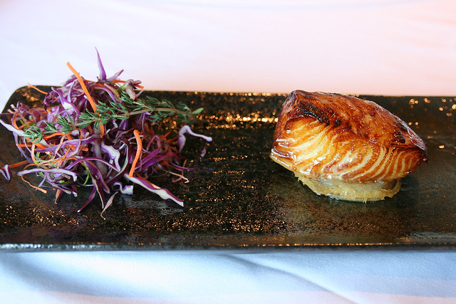 Chilean Sea Bass or Cod with Honey and Ginger Sauce