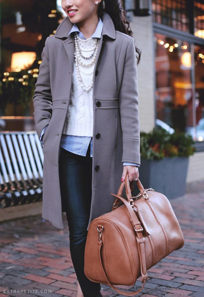jcrew lady day coat petites