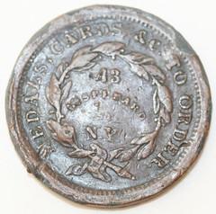Samuel Black token 1859-rev