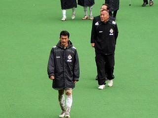 クラブの、チームの、ピッチでの、それぞれの指揮官。