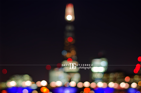 London The Shard Bokeh - David Gutierrez Photography, London Photographer