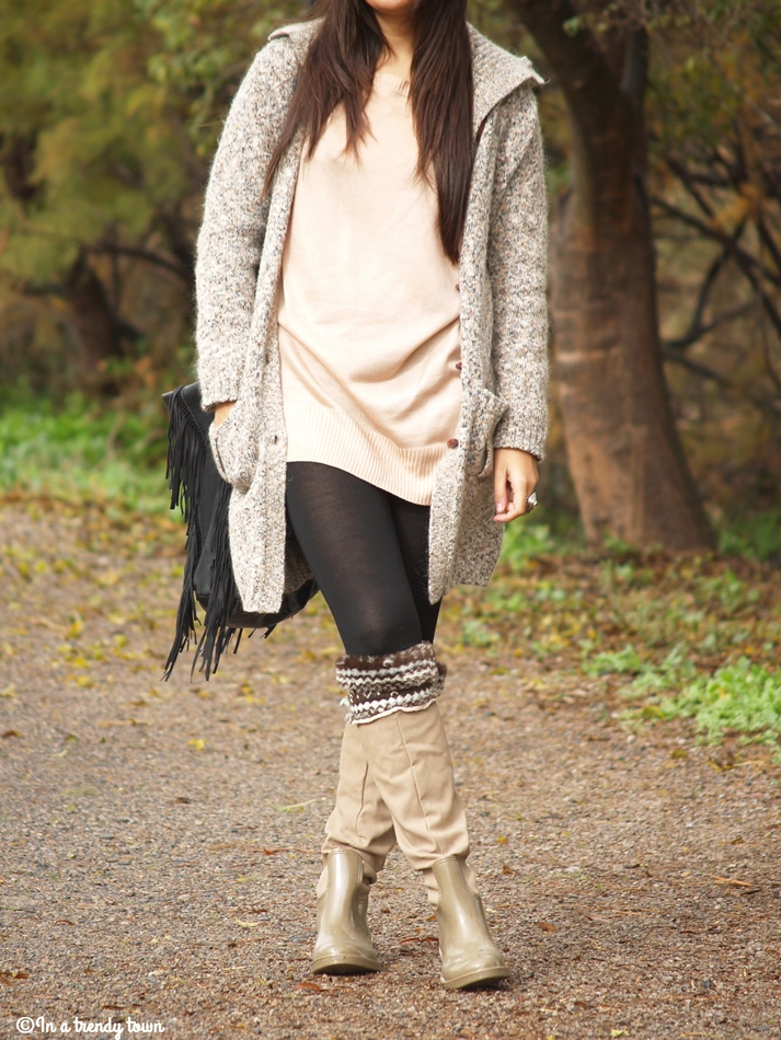 OUTFIT PRINT RAIN BOOTS