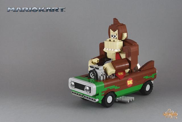 Donkey Kong on his Flame Flyer - MarioKart