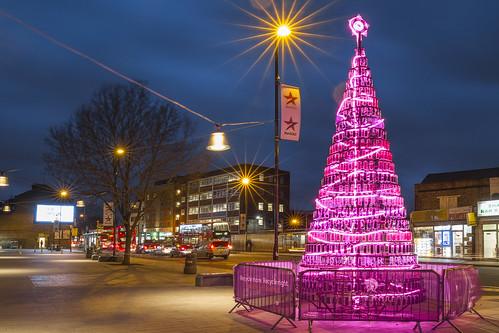 Southall plastic bottle Christmas tree