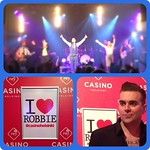@tonyasrobbie in action with some lovely ladies on stage (of course) at #DinnerParty #CasinoHelsinki