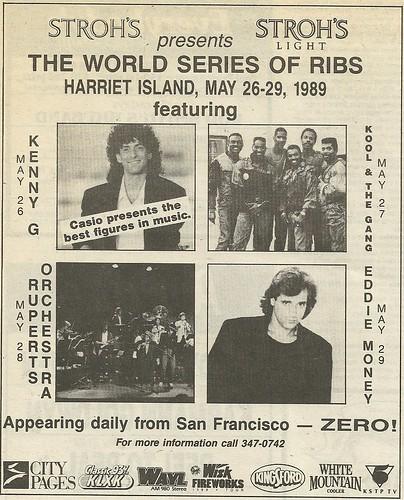 05/26 - 29/89 The World Series of Ribs @ Harriet Island, St. Paul, MN