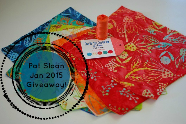 pat sloan Jan 2015 giveaway