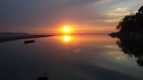 sunset india vivid assam tezpur bramhaputra