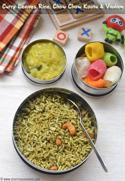 Lunch box recipes for kids kids lunch box recipe ideas sharmis curry leaves rice forumfinder Images