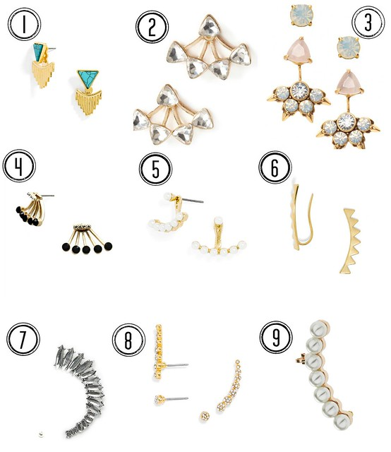ear jackets and cuffs