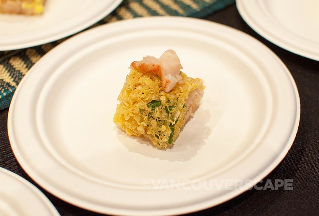 Maenam: Latiang of lobster: crispy egg nests, caramelized coconut, lemongrass, lime leaf, shallots, cilantro