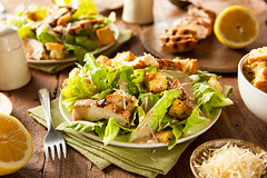 Healthy Grilled Chicken Caesar Salad