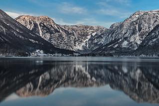 Hallstätter See bei Sonnenuntergang
