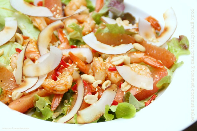 Pink Grapefruit, Prawn & Toasted Coconut Salad 1