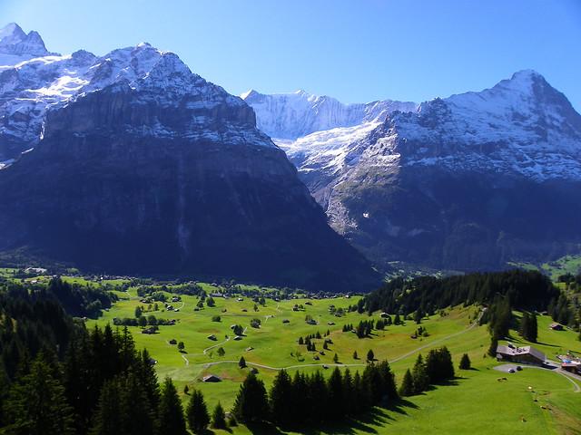Dejando la estación de telecabinas de Grindelwald abajo