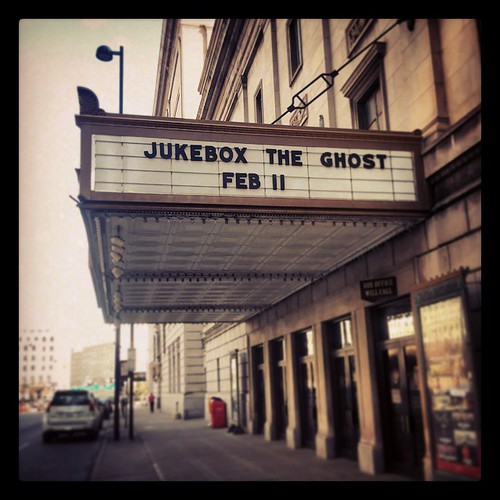 Very excited to see @JukeboxTheGhost tonight @TaftTheatre in downtown Cincinnati...