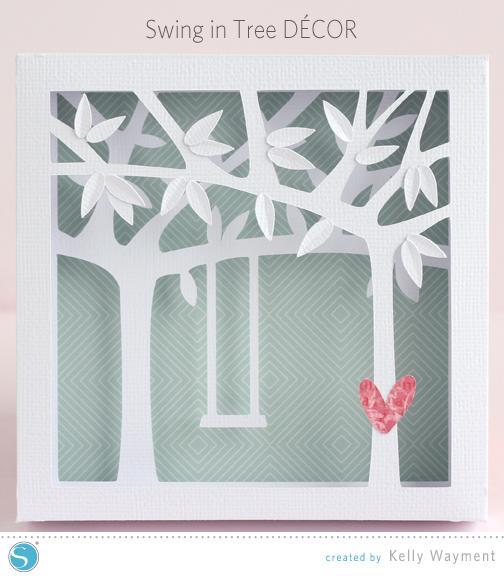 Swing in Tree Decor by Kelly Wayment for Silhouette