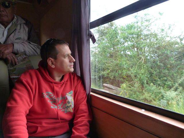 Sele en el tren Quito - El Boliche (Ecuador)