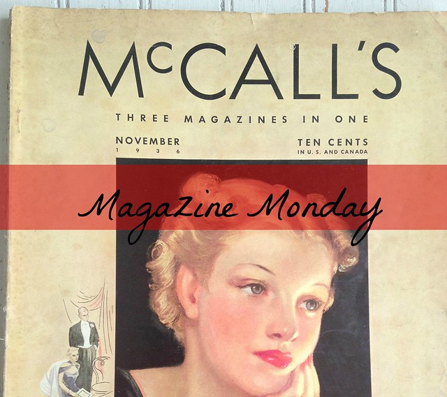 Magazine Monday  Nov. 1936 McCall's banner