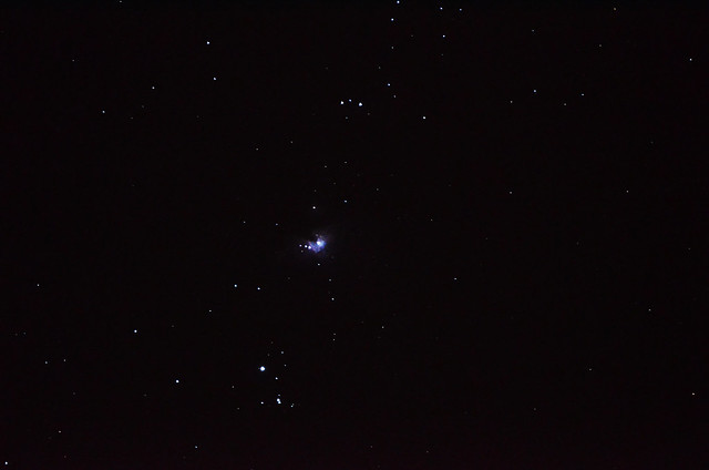Orion's Sword and Orion Nebula M42. Constellation of Orion.