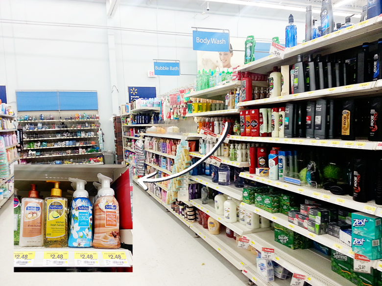 Softsoap premium foaming hand soap at Walmart