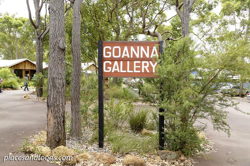 goanna gallery cafe sign Dunsborough
