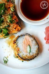 inside of deep fried sushi