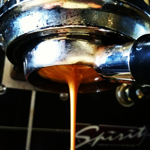 This espresso finally got a name! Yokohama Bay - buttered almond and brown sugar w/ stone fruit and berry in the finish. On Tap now! #espresso #caffedbolla #kvdw #kvdwspirit #slc #coffee