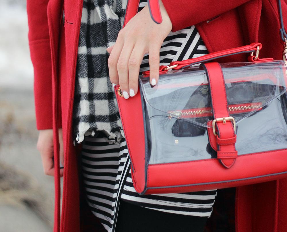 Transparent clear see-through bag