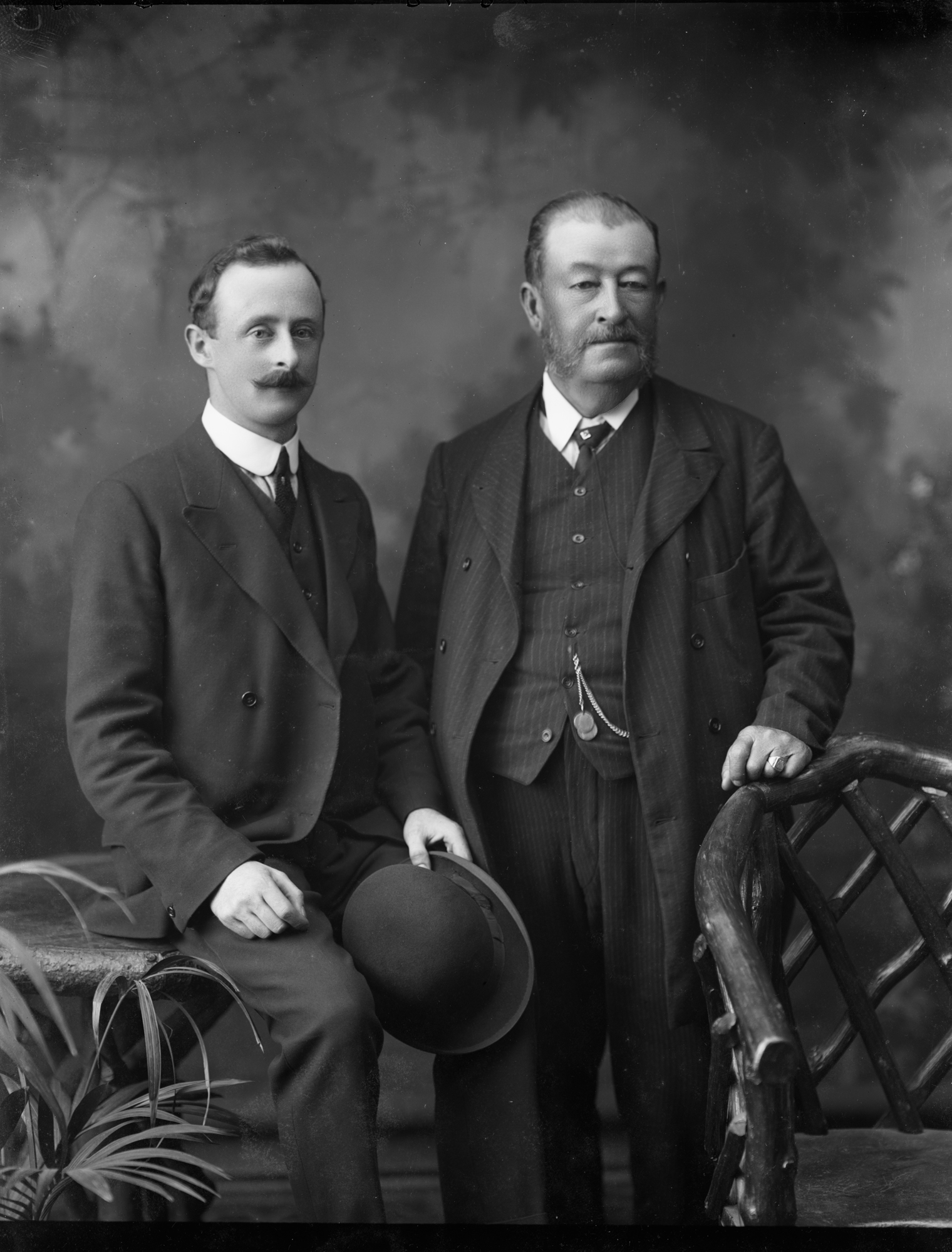 Group of two : commissioned by Mr. Synnott. Solicitor. Enniscorthy