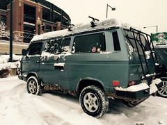 Our Ski Bus is loving all the snow in Denver!