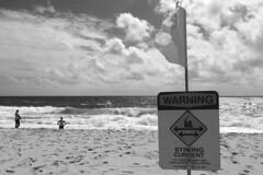 Sandy Beach - Strong Waves