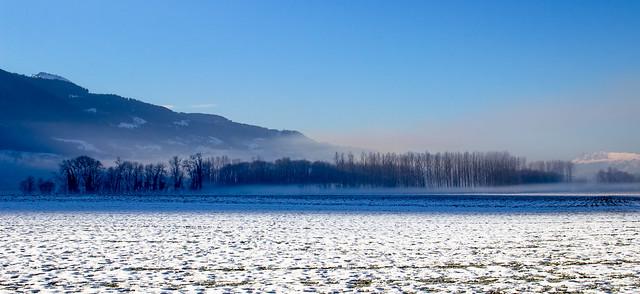 Snow Sunrise Morning - Lever du soleil dans la plaine.