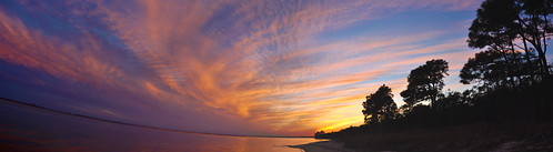 sunset sky autostitch panorama usa water bay nikon wasser unitedstates florida military airforce usaf afb eglin kvps choctawhatcheebay vps okaloosacounty d5000 fisherbray