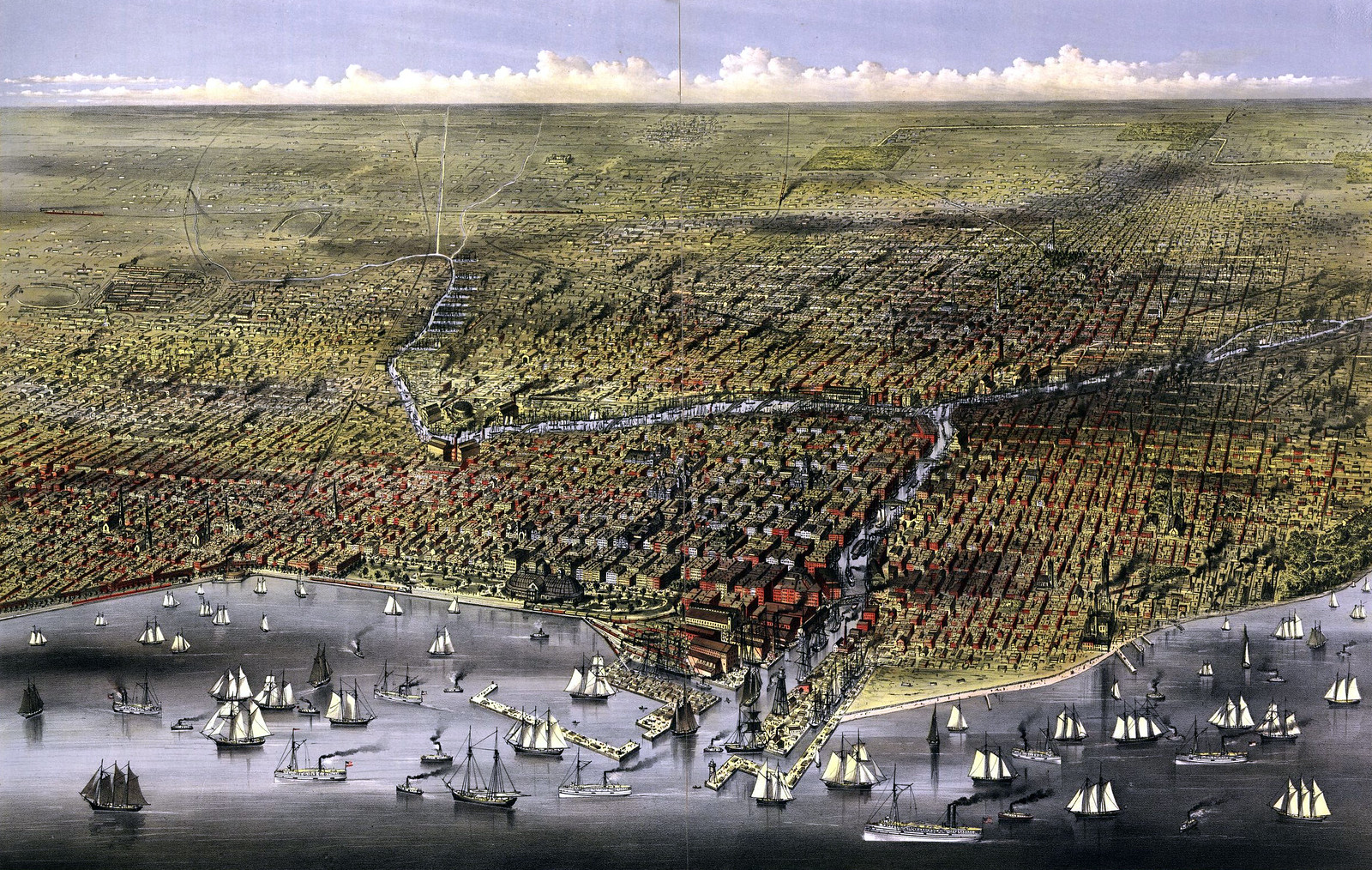 The City of Chicago, c. 1874