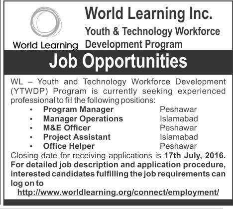 World Learning Inc Career Opportunities