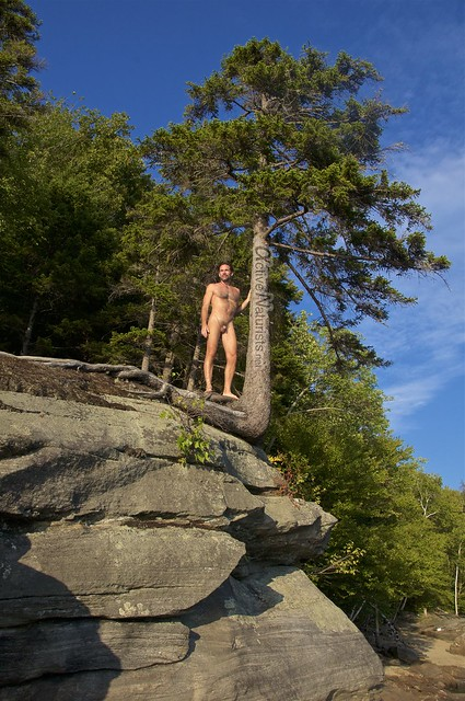 naturist 0005 Ledges at Harriman Reservoir, Vermont, USA