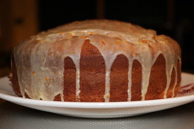 Orange and Sour Cream Cake