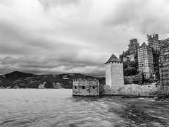 Golubac Fortress being reconstructed