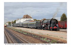 Romilly-sur-Seine. 141 R 420 & train from Longueville. 17.9.11