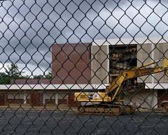 West side building destruction, closeup