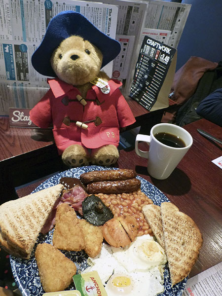 paddington's breakfast ...
