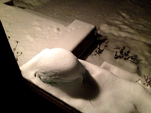Snow, from window