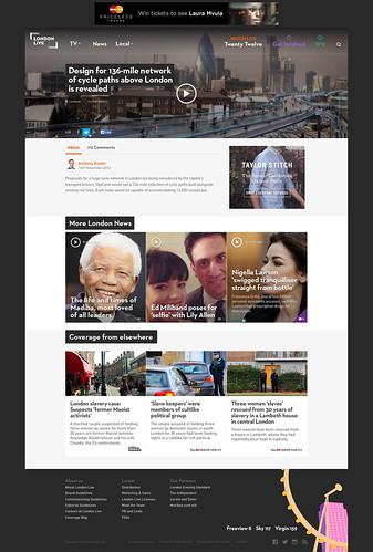 Visual design mock for news story