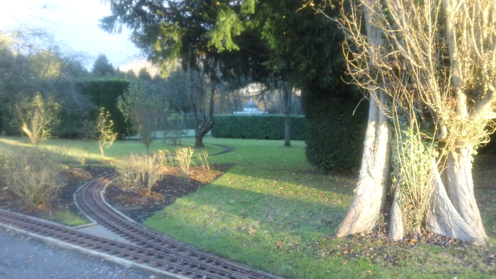 Miniature railway near Bolney Court