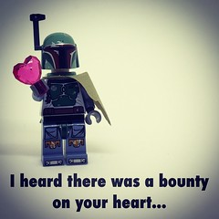 I heard there was a bounty on your heart... #starwars #geek #love #valentine #valentinesday #nerd #bobafett #heart