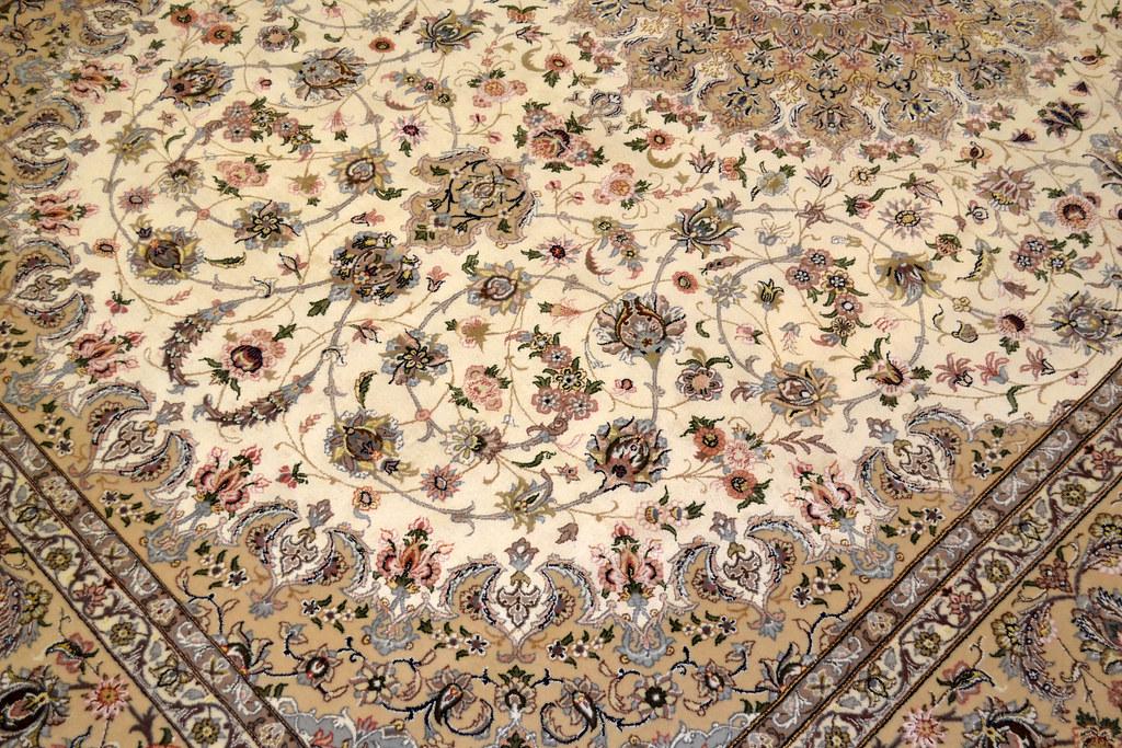 Pair Isfahan Esfahan Kaf Abrisham 7x10 persian Fine Area Rug (8)