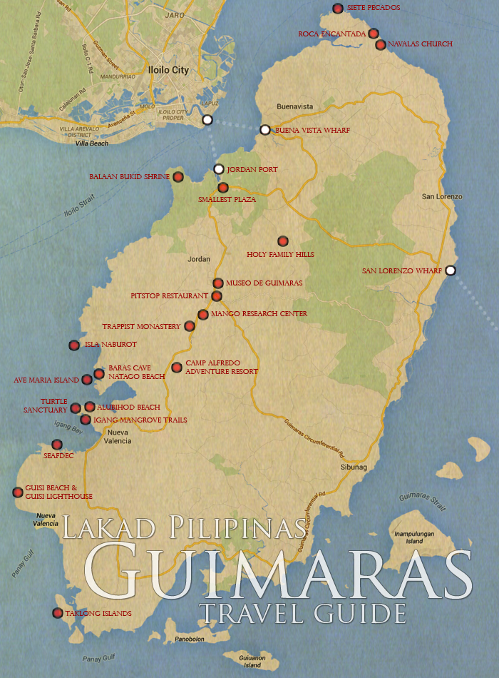 Guimaras Tourist Spots Map