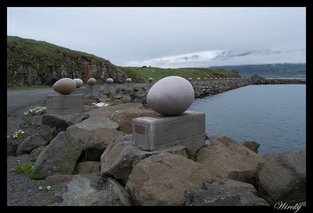 Los huevos Eggin i Gledivík de Djúpivogur
