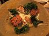 Chicken oyster, crispy skin, cellar kimchi, burnt kale